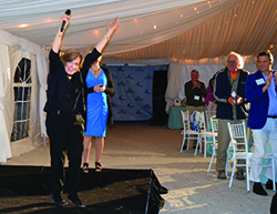 Dr. Sylvia Earle got a standing ovation from guests at the fundraiser. Photo by Sue