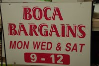 Prepare to enter the fray, dear friends … Boca Bargains is back!