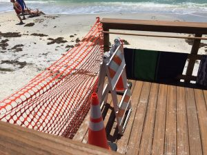 5th Street Beach Access closed due to erosion