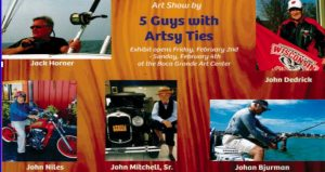 5 Guys With Artsy Ties show planned for February 4
