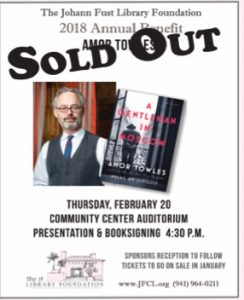 Fust Foundation Towles talk sold out