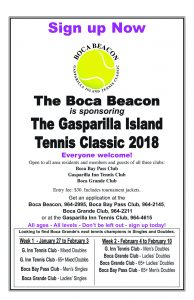 Sign up now for the 2018 Gasparilla Island Tennis Classic