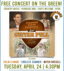 Free country music concert on April 24