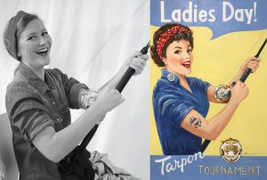 'Rosie the Riveter' inspires a new generation of women: Artist Brendan Coudal recaptures the iconic image of WWII poster for 2018 Ladies Day