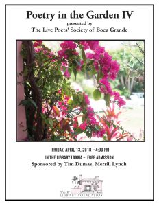 Live poets to share prose at 'Poetry in the Garden' event