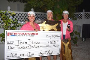Blaze for the win in the 2018 Ladies Day Tarpon Tournament Second straight win in 2018