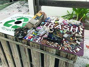 Lots of beach trash, several false crawls in this week's turtle report