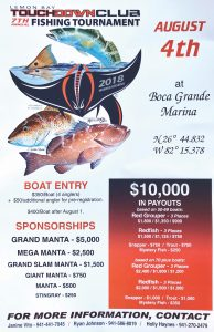 Lemon Bay Touchdown Club fishing tournament scheduled for August 3, 4