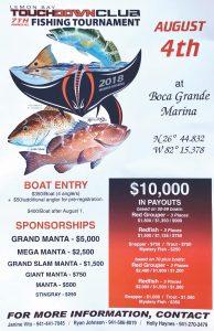 Lemon Bay Touchdown Club fishing tournament August 4