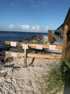 A path to nowhere: Gulf side of state park beach walkway still open; just avoid the ramp