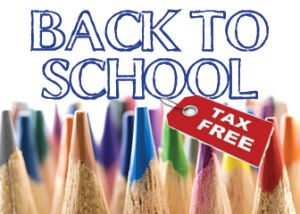 Back-to-school tax break set for August 3 through 5