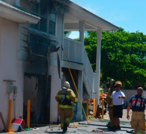 Fire damages Boca Bay maintenance building, injures one