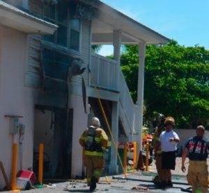 Fire damages Boca Bay maintenance building, injures one