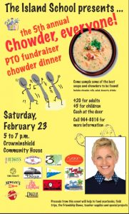 Chowder, anyone? How about a little Ellen deGeneres on the side?