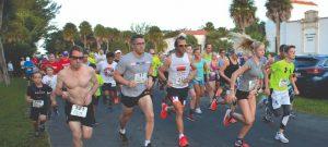 … annnnnd, they're off! Boca Grande 5K runners