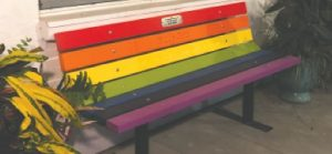 Garden Club presents Lolo Weir Memorial Buddy Bench to The Island School
