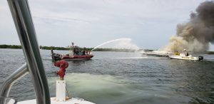 Island firefighters respond to boat fire in Boca Grande Pass